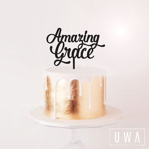 Amazing Grace - Cake Topper