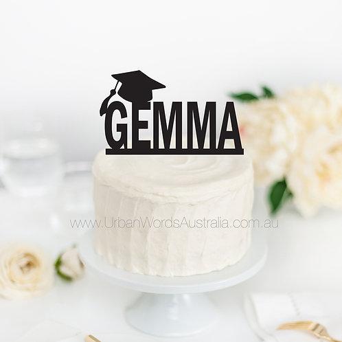 Custom Name Graduation - Cake Topper