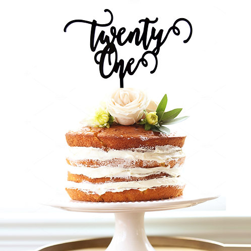 Scripted Twenty One - Cake Topper