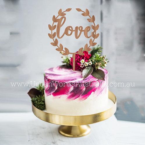 love wreath - Cake Topper