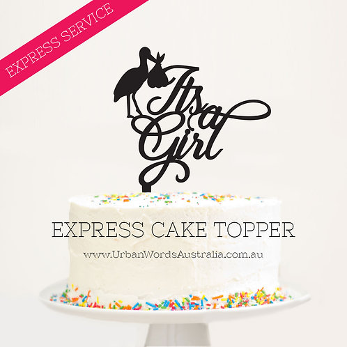 Express - It's a Girl Stork
