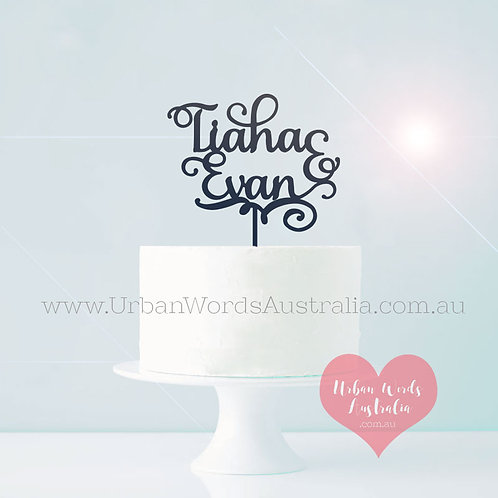 Dior Custom Names - Cake Topper