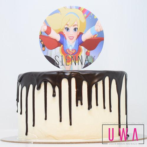 Super Girl - Personalised Cake Topper
