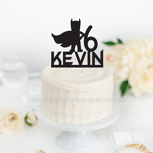 Superhero Age and Name - Cake Topper