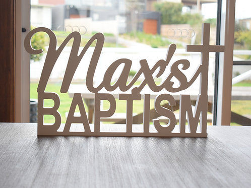 Custom Baptism Name Sign