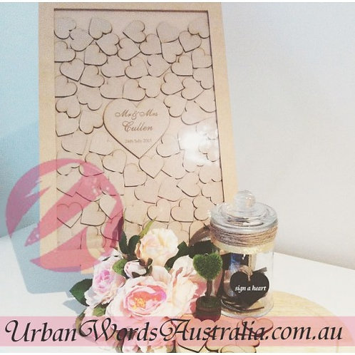 Wedding Drop Box Signature Frames / Guest Book - MDF