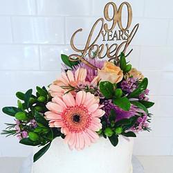 Custom Age - Years Loved Cake Topper