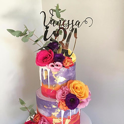 Custom Name with Age Cake Topper