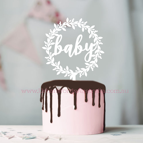 Baby Wreath - Cake Topper