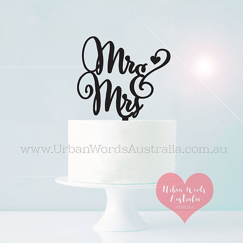 Quirky Mr & Mrs - Cake Topper