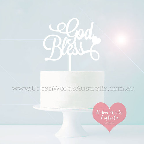 God Bless - Cake Topper