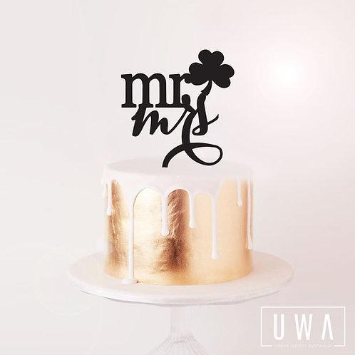 Shamrock Mr + Mrs - Cake Topper