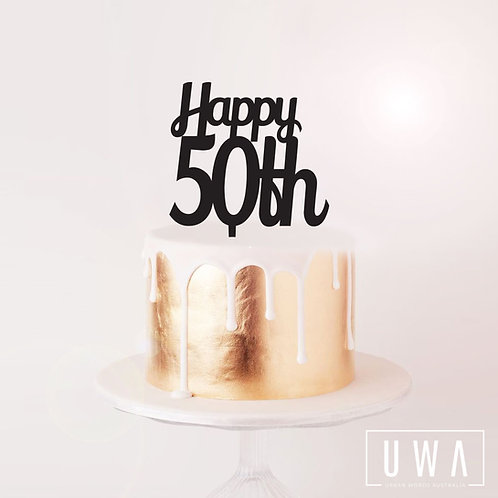 Happy 50th - Cake Topper