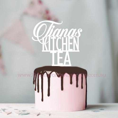 Kitchen Tea Custom Name - Cake Topper