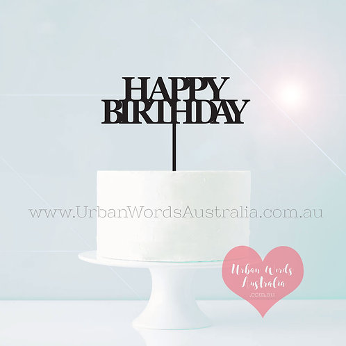 Happy Birthday Extended Stick - Cake Topper