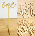 Scripted Wooden Table Numbers