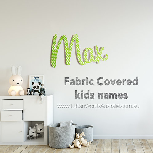 Fabric Covered Name