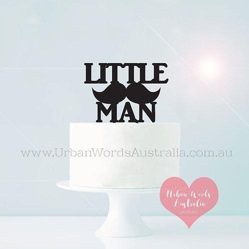 Little Man - Cake Topper