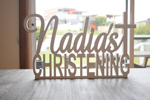Custom Christening Name Sign