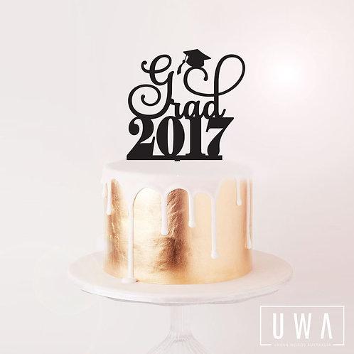 Grad 2017 - Cake Topper