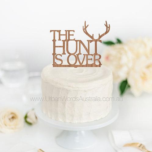 The Hunt is over - Deer - Cake Topper