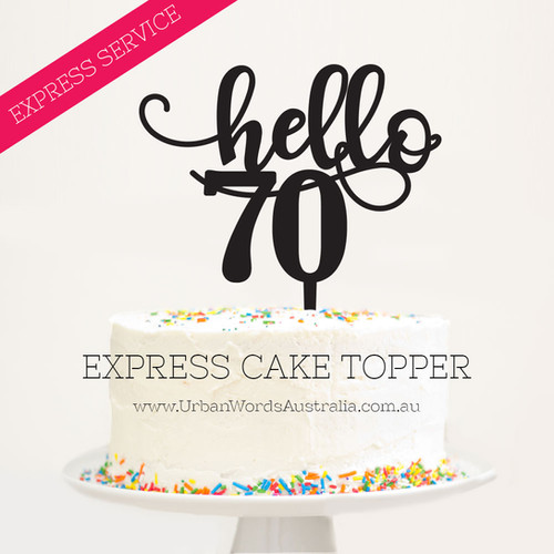 Express Cake Topppers