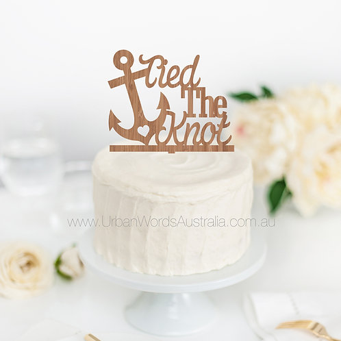 Tied the Knot - Cake Topper