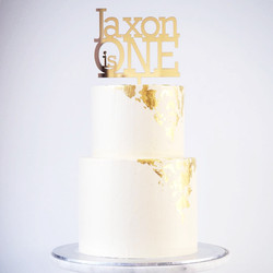 Gold Mirror Cake Topper