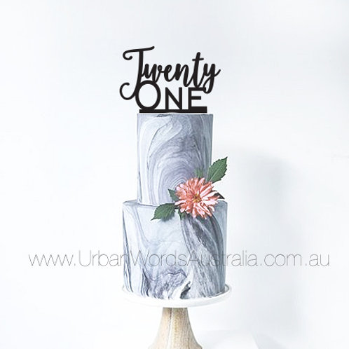 Twenty One - Cake Topper