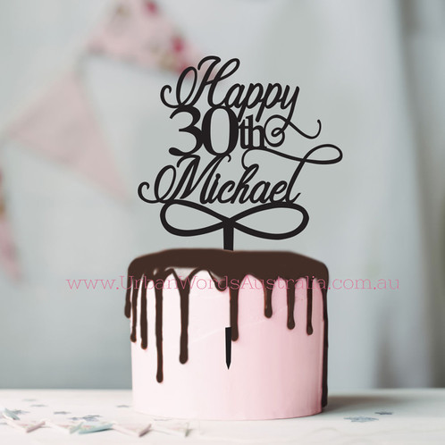 Add A Personalised Touch To Your Birthday Or Celebration Cake With Custom Topper