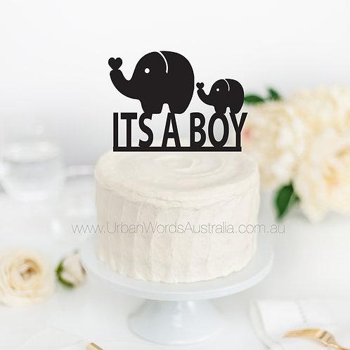 Its a Boy - Elephants - Cake Topper