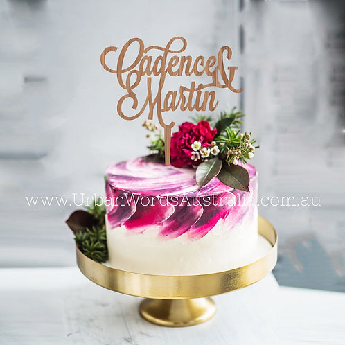 Custom Name & Name - Cake Topper
