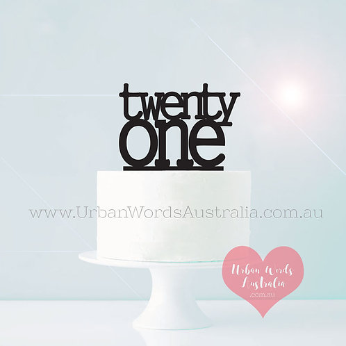 Block Twenty One - Cake Topper