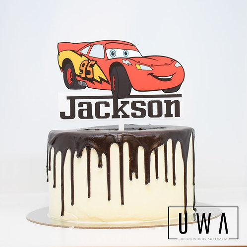 Cars - Personalised Cake Topper