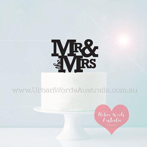 Mr & the Mrs - Cake Topper