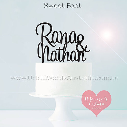 Custom Name & Name - Cake Topper