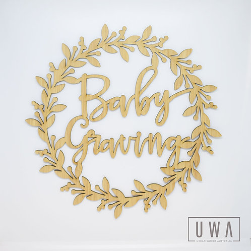Custom Baby Name Wreath