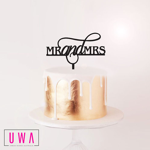 Mr and Mrs - Cake Topper