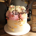 Rose Gold Mirror Cake Topper