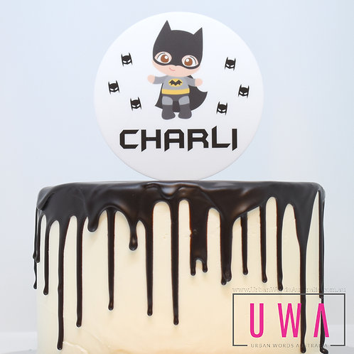 Bat Boy - Personalised Cake Topper