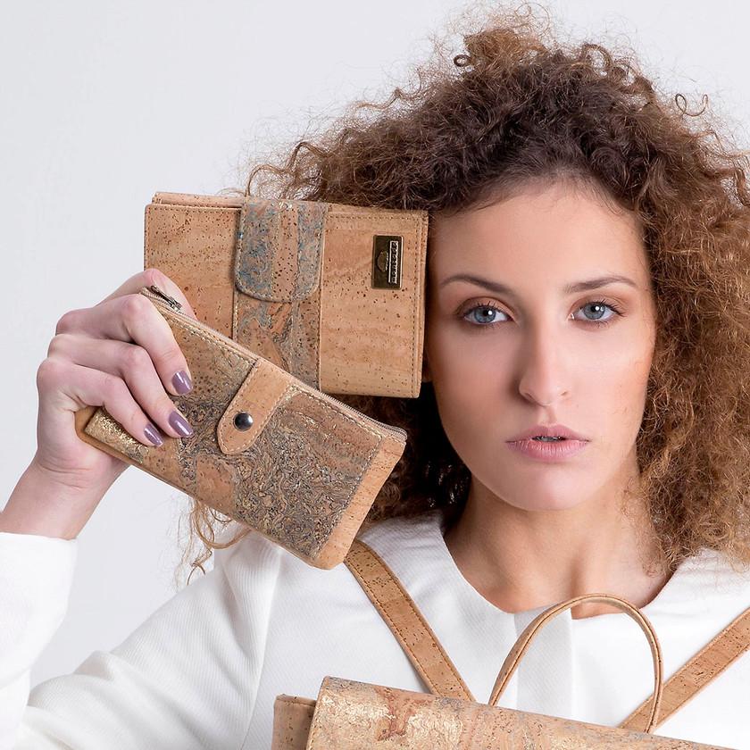 vegan leather cork wallets
