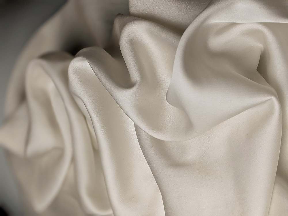A piece of white silk loosely bunched