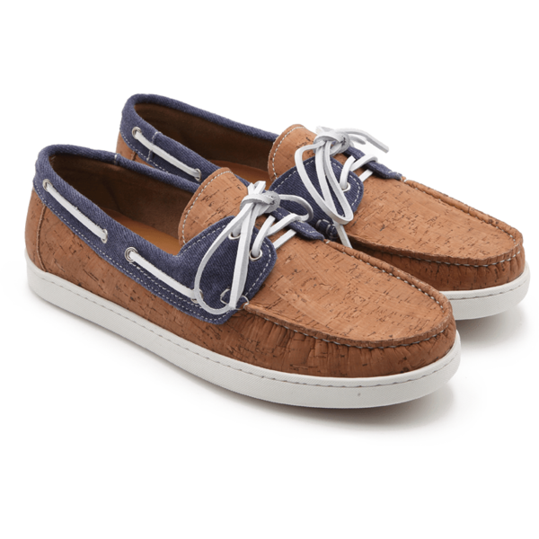 vegan leather cork boat shoes loafers