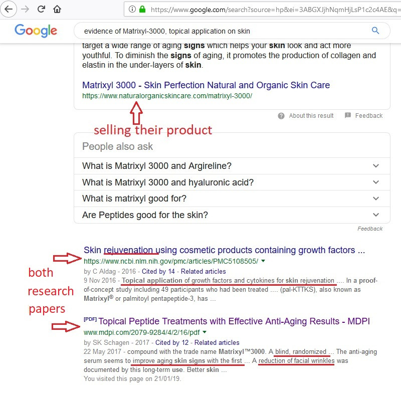 peptides how to google a peptide to see if it works