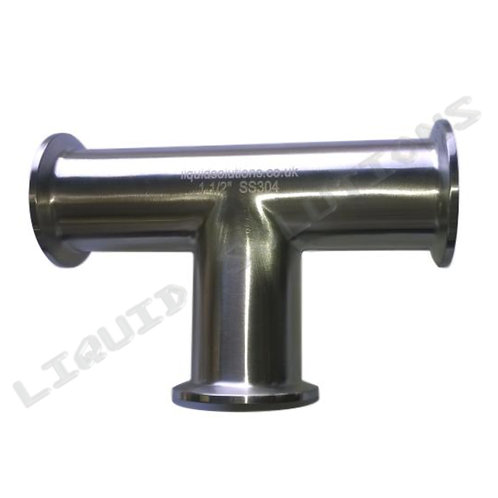 TriClamp Tee Piece 1/1.5 Inch Sizes