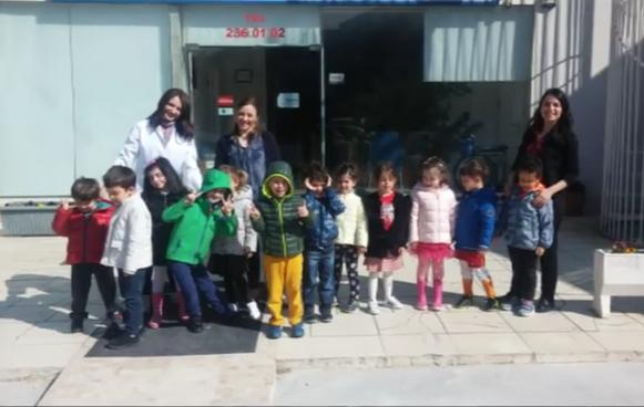 Nesibe Aydın Ümitköy Anaokulu Karınca Sınıfı öğrencileri kliniğimi ziyarete gediler. 19.04.2017