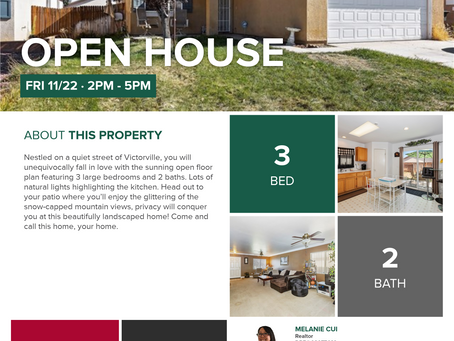 Open House this Friday afternoon!