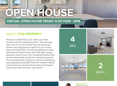 VIRTUAL OPEN HOUSE TODAY!