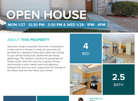 Open House today! Check out this 2 story home in Victorville, starting at 12:30 until 3:30!