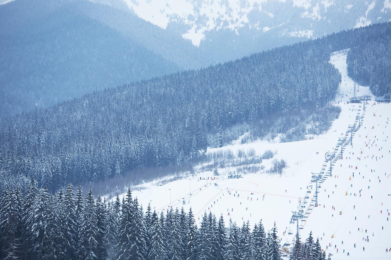 Paisagem da estância de esqui